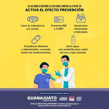 Ante el COVID recomendaciones básicas al acudir a recibir la vacuna.