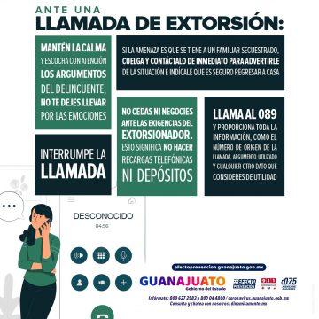 Ante la extorsión ¡Activa el Efecto Prevención!